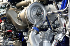 Motore del camion Fotografie Stock