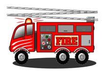 Motore del camion dei vigili del fuoco con l'illustrazione della scala Fotografia Stock Libera da Diritti