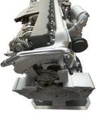 Motore del camion, isolato sopra bianco Immagine Stock