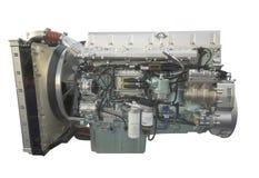 Motore del camion, isolato su bianco Fotografia Stock