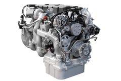 Motore del camion pesante isolato Immagini Stock