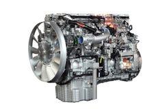 Motore del camion pesante isolato Fotografie Stock