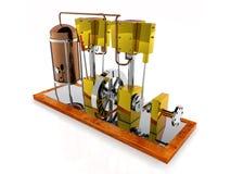 Motore del crogiolo di vapore Fotografia Stock Libera da Diritti