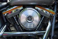 Motore del motociclo Harley-Davidson, primo piano Immagini Stock