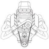 Motore del Rod caldo Fotografia Stock