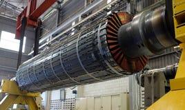 Motore del rotore ad un'officina Fotografia Stock