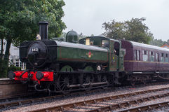 Motore del sud della ferrovia di Devon Steam Fotografia Stock Libera da Diritti