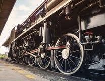 Motore del treno del motore della ruota della locomotiva a vapore Fotografie Stock Libere da Diritti