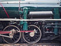 Motore del treno del motore della ruota della locomotiva a vapore Fotografia Stock