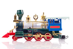 Motore del treno di festa del giocattolo Fotografia Stock Libera da Diritti