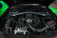 Motore del ` U del guerriero del ` di Ford Mustang GT S Edizione speciale dell'esercito, 2014 Fotografia Stock Libera da Diritti