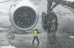 Motore dell'aeroplano Fotografie Stock Libere da Diritti