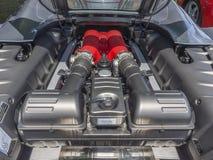 Motore dell'automobile sportiva, V8 Immagini Stock Libere da Diritti