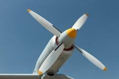 Motore dell'elica di aeroplano Fotografie Stock
