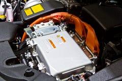 Motore dell'ibrido e della batteria Fotografie Stock Libere da Diritti