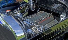 Motore della corvetta in piccolo Rod Car caldo immagine stock