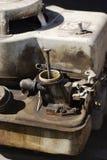 Motore della falciatrice da giardino Fotografia Stock Libera da Diritti