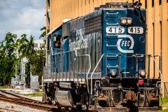 Motore della ferrovia della costa Est di Florida immagini stock