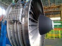 motore di aerei immagini stock