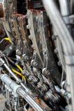 Motore di Aicraft smantellato Fotografia Stock