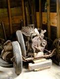 Motore di automobile analizzato vecchia annata Fotografia Stock