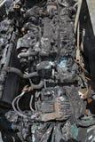 Motore di automobile automobilistico e bruciato Immagini Stock