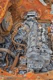 Motore di automobile bruciato Fotografia Stock Libera da Diritti