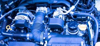 Motore di automobile del primo piano Fotografia Stock