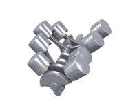 Motore di automobile di V8 Fotografia Stock