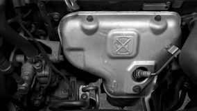 Motore di automobile durante la manutenzione Immagine Stock