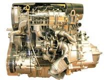 Motore di automobile isolato su bianco Fotografie Stock Libere da Diritti