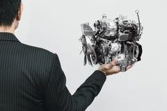 Motore di automobile moderno piccolo Eco e peso leggero fotografia stock libera da diritti
