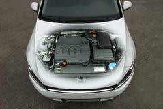 Motore di automobile trasparente Fotografie Stock