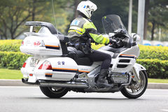 Motore di azionamento cinese della polizia Fotografie Stock