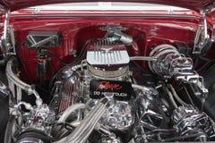 Motore di Chevrolet Chevelle ss su esposizione Immagini Stock Libere da Diritti