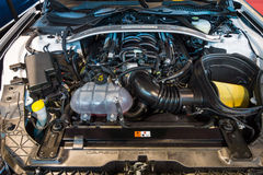 Motore di Ford Mustang Shelby GT 350, 2015 Immagini Stock