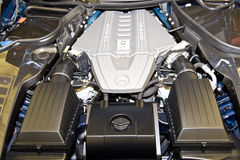 Motore di Mercedes AMG V8 Fotografie Stock