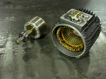 Motore elettrico smontato di induzione industriale Immagine Stock Libera da Diritti