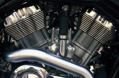Motore gemellare del motociclo V Immagini Stock Libere da Diritti