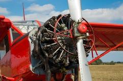 Motore il Cessna, macchina di presentazione all'aeroporto Fotografia Stock Libera da Diritti