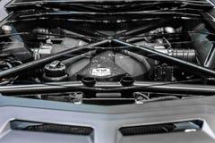 Motore Lamborghini Aventador immagini stock libere da diritti