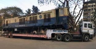 Motore muoventesi di WCAM 3 alla stazione merci ferroviaria kalyan fotografia stock