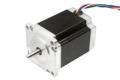 Motore passo a passo elettrico dell'azionamento lineare di asse di CNC della macchina 3D Fotografia Stock Libera da Diritti