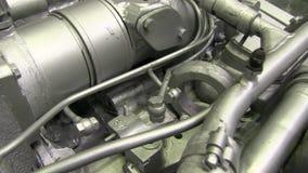 Motore potente moderno del camion stock footage