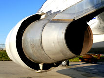 Motore a propulsione dei velivoli immagine stock libera da diritti
