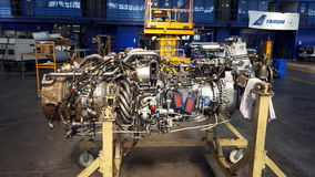 Motore a propulsione di ATR 72 Fotografia Stock Libera da Diritti