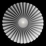 Motore a propulsione di Turbo immagini stock