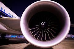 Motore a propulsione di un aereo Immagine Stock