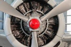 Motore radiale di un aereo fotografia stock