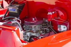 Motore rosso di Chevy Antique Pick Up Truck immagine stock